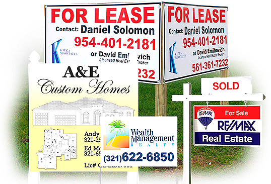 Real Estate Signs For Sale Sign For Rent Sign For Lease